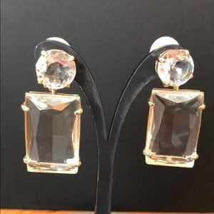 J Crew crystal pendant earrings